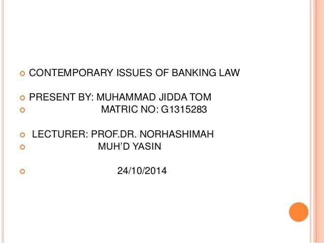Dissertation on banking law