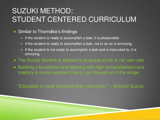 contemporary learning theories and the suzuki method