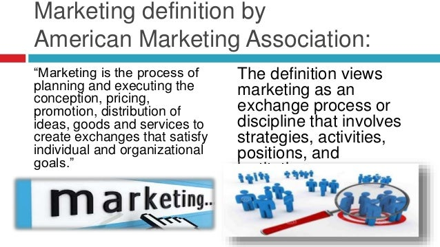 definition of marketing and management Marketing as a management process definitions of marketing describe it as a business function ¬ rather like accounting, or human resource management to ´do° marketing is therefore to manage a complex business process.