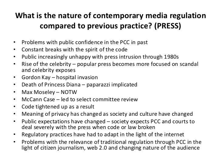 Contemporary media regulation 4 topic prompts press