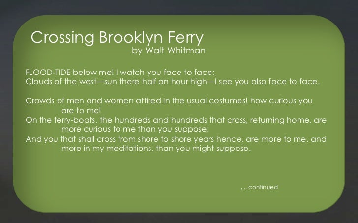 CROSSING BROOKLYN FERRY POEM PDF DOWNLOAD