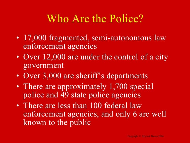 Role of police in society