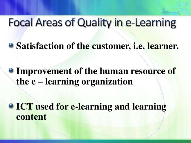 Learning needs and adult distance learners