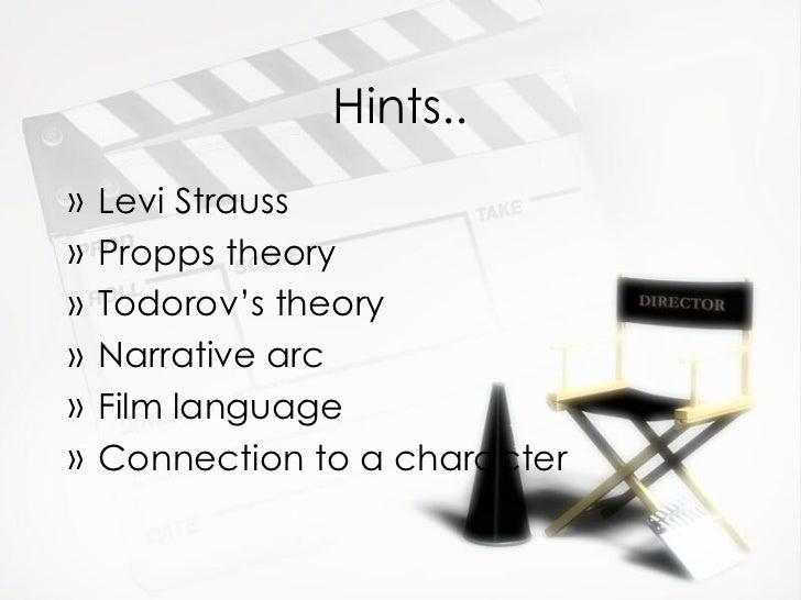 Hints.. <ul><li>Levi Strauss </li></ul><ul><li>Propps theory </li></ul><ul><li>Todorov's theory </li></ul><ul><li>Narrativ...