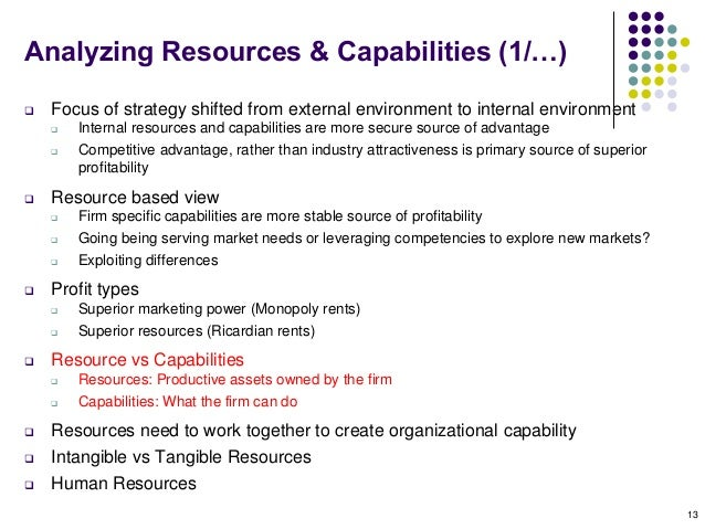 making use of resources capabilities and A dimension of resource development is included in resource management by which investment in resources can be retained by a smaller additional investment to develop a new capability that is demanded, at a lower investment than disposing of the current resource and replacing it with another that has the demanded capability.