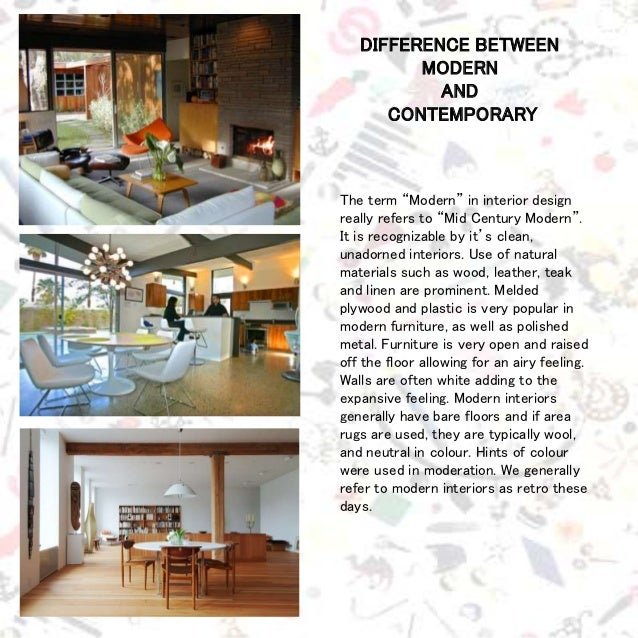 Contemporary style - Difference between modern and contemporary ...