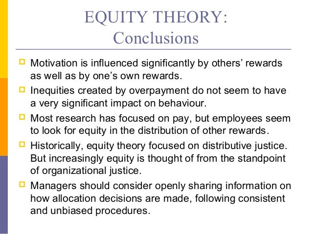 equity theory motivation in the supermarket Much like other prevalent theories of motivation, such as maslow's hierarchy of needs, equity theory acknowledges that subtle and variable individual factors affect each person's assessment .