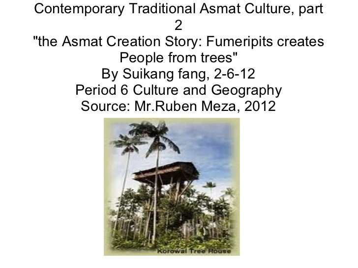"""Contemporary Traditional Asmat Culture, part 2 """"the Asmat Creation Story: Fumeripits creates People from trees"""" ..."""
