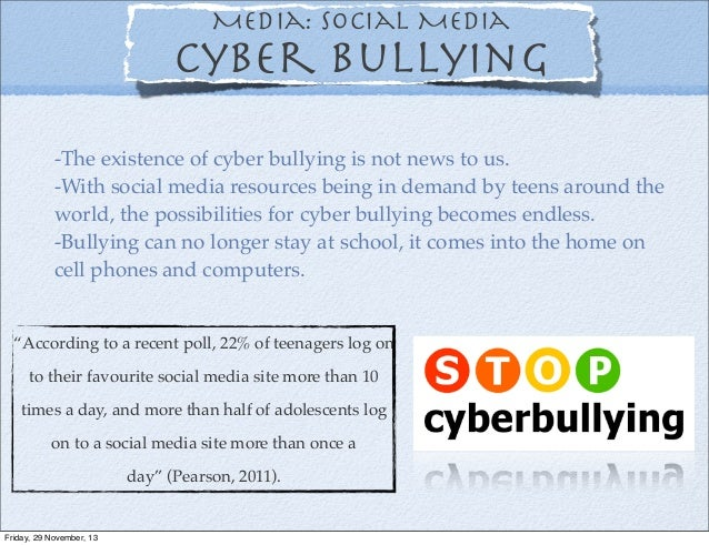 the social problem and consequences of cyberbullying Concerns regarding social media and health issues in adolescents  concerns regarding social media  health consequences social media use.