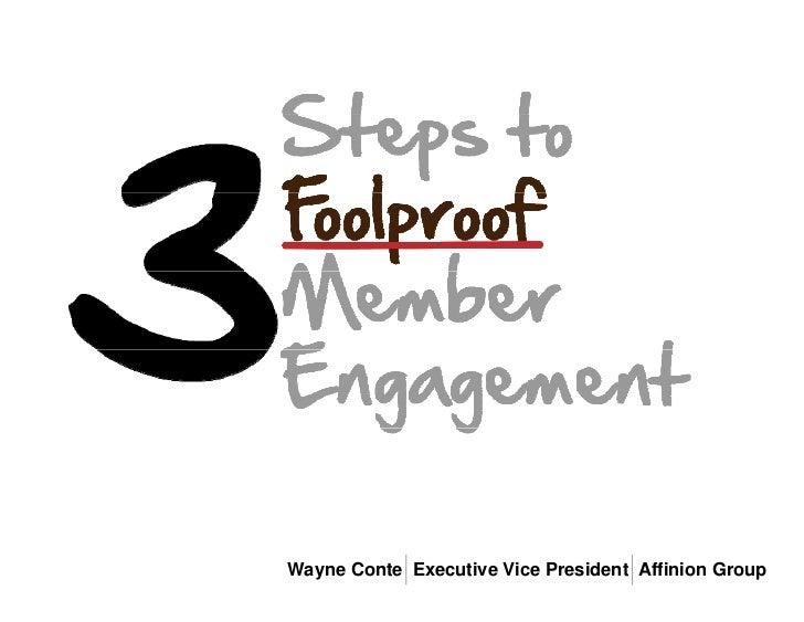 Wayne Conte Executive Vice President Affinion Group