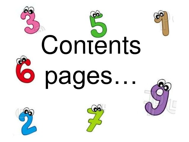 Contentspages…