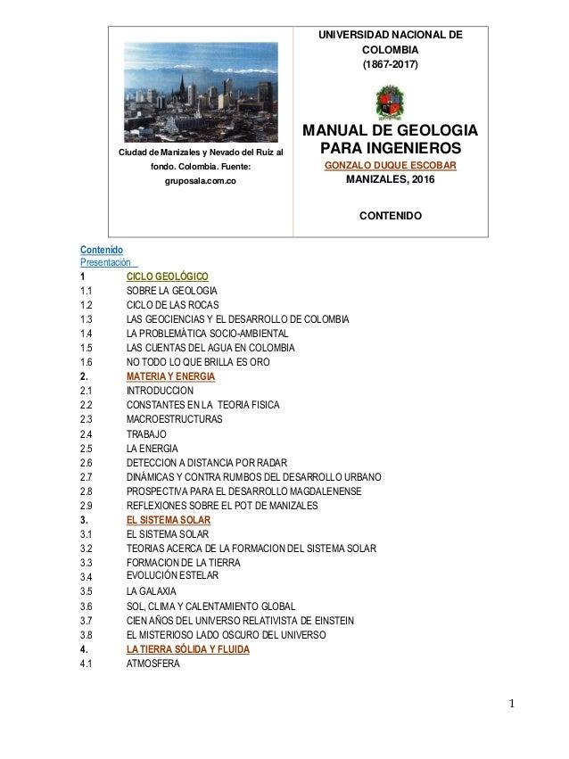 manual de geologia contenido rh slideshare net