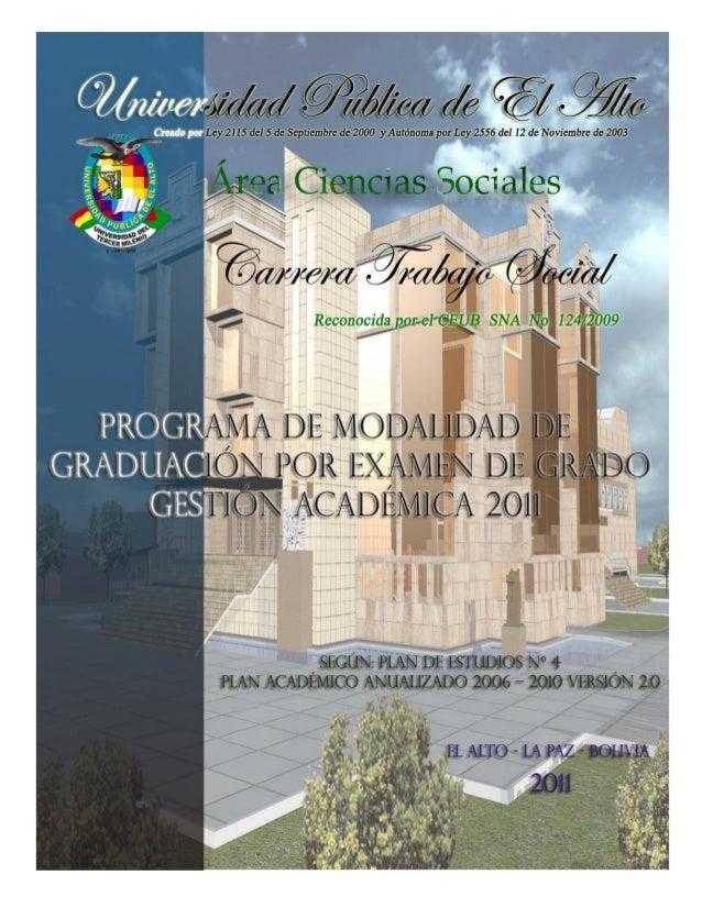 1 Universidad Pública de El AltoCreado por Ley 2115 del 5 de Septiembre de 2000 y Modificada por Ley 2556 de 12 de Noviemb...
