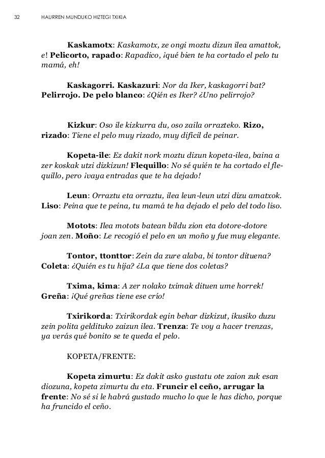 Pequeño Diccionario Para Hablar Con Los Niños En Euskera