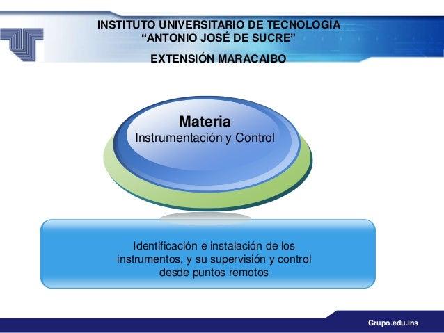 """INSTITUTO UNIVERSITARIO DE TECNOLOGÍA       """"ANTONIO JOSÉ DE SUCRE""""         EXTENSIÓN MARACAIBO               Materia     ..."""