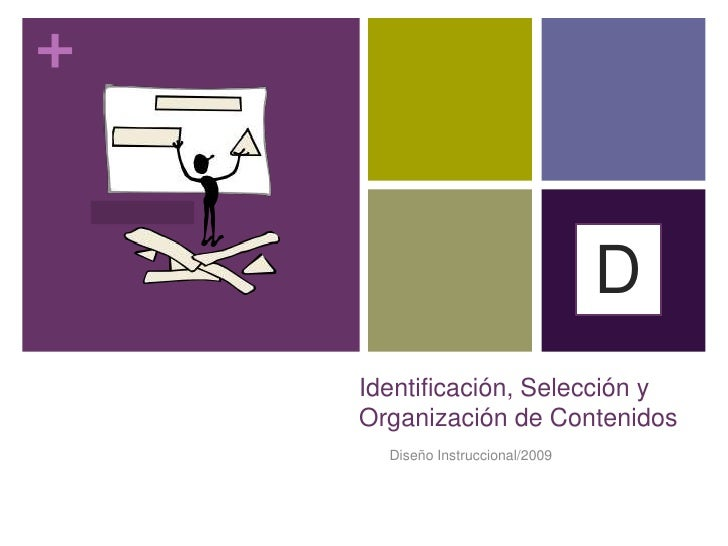 Diseño Instruccional/2009<br />Etapa  3<br />D<br />Identificación, Selección y Organización de Contenidos<br />