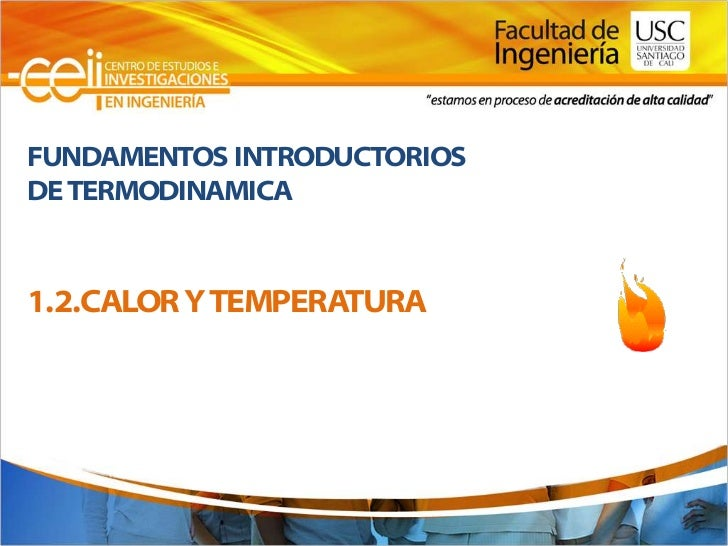 FUNDAMENTOS INTRODUCTORIOSDE TERMODINAMICA1.2.CALOR Y TEMPERATURA
