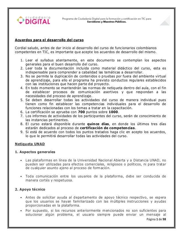 Acuerdos para el desarrollo del cursoCordial saludo, antes de dar inicio al desarrollo del curso de funcionarios colombian...