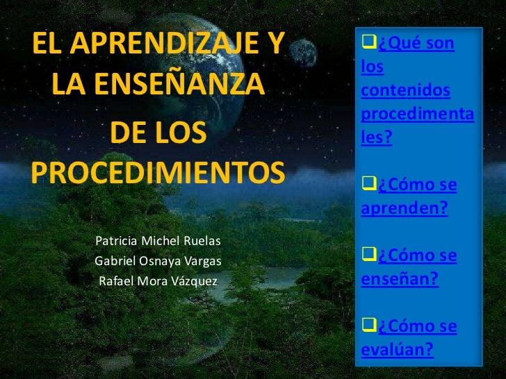 EL APRENDIZAJE Y             ¿Qué son                              los  LA ENSEÑANZA                contenidos           ...