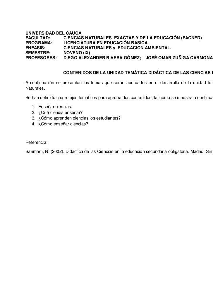 UNIVERSIDAD DEL CAUCAFACULTAD:     CIENCIAS NATURALES, EXACTAS Y DE LA EDUCACIÓN (FACNED)PROGRAMA:     LICENCIATURA EN EDU...