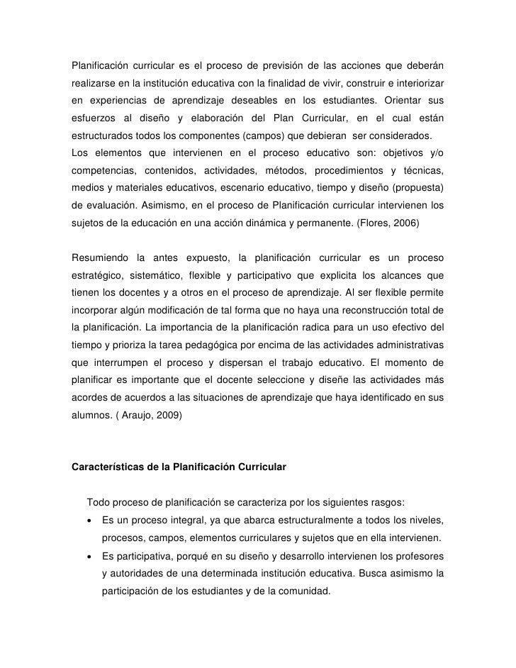 PLANIFICACION CURRICULAR Slide 3
