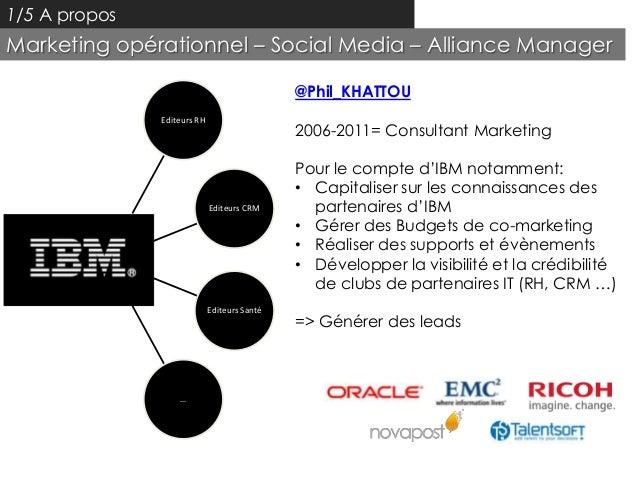 1/5 A proposMarketing opérationnel – Social Media – Alliance Manager                                              @Phil_KH...