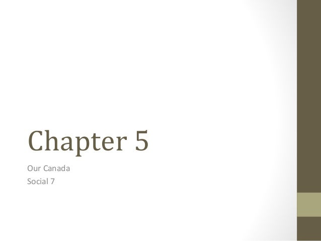 Chapter 5 Our Canada Social 7