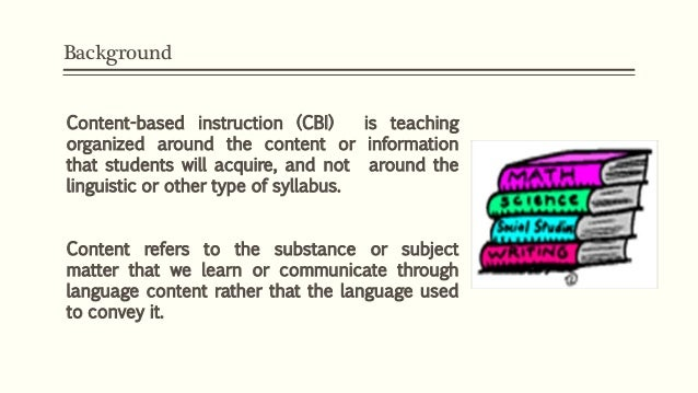 Content Based Instruction Cbi