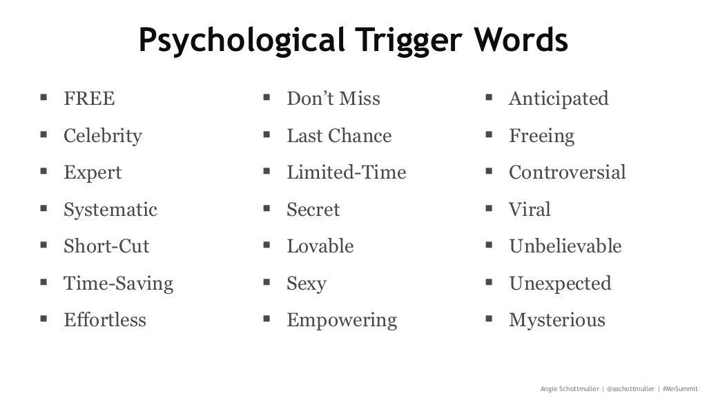 psychological trigger words free
