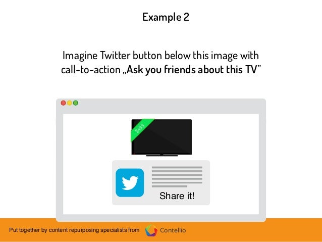 ContellioPut together by content repurposing specialists from Imagine Twitter button below this image with call-to-action ...