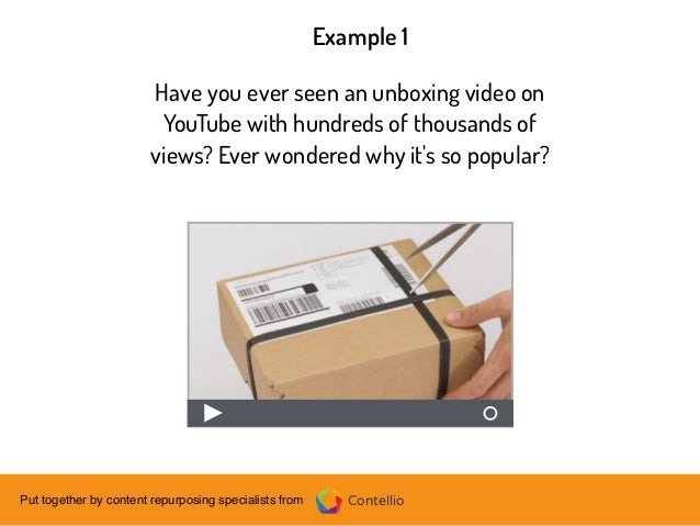 ContellioPut together by content repurposing specialists from Have you ever seen an unboxing video on YouTube with hundred...