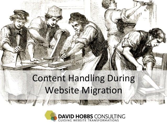 Content Handling During    Website Migra4on
