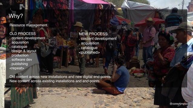 Resource management. OLD PROCESS . content development . acquisition . catalogue . design & layout . production . software...