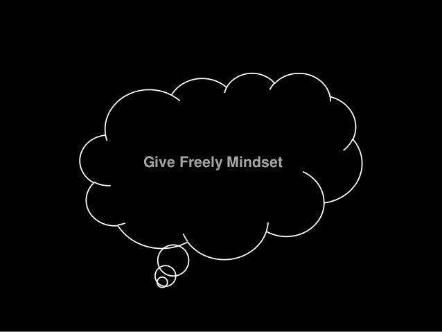Give Freely Mindset