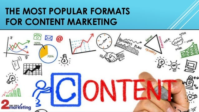 THE MOST POPULAR FORMATS FOR CONTENT MARKETING