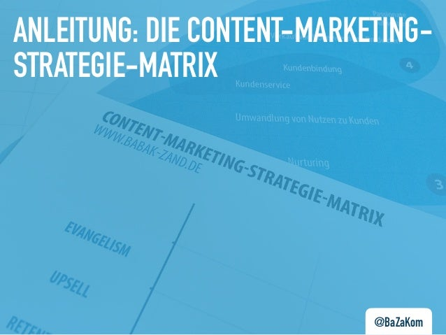 @BaZaKom ANLEITUNG: DIE CONTENT-MARKETING- STRATEGIE-MATRIX