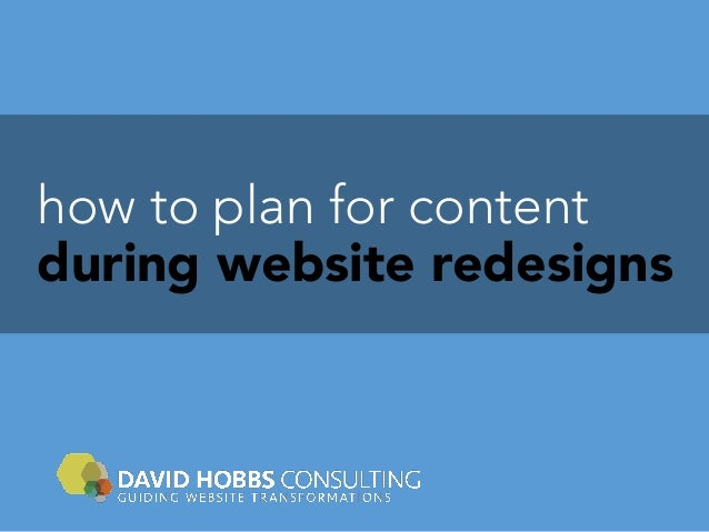 how to plan for content during website redesigns