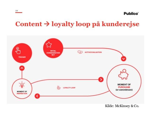 19 Content loyalty loop på kunderejse Kilde: McKinsey & Co.