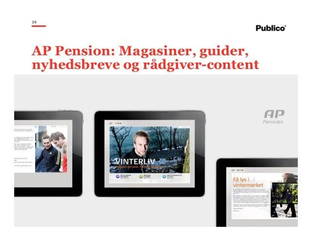 39 AP Pension: Magasiner, guider, nyhedsbreve og rådgiver-content