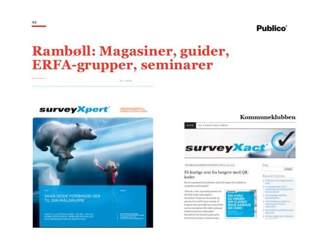 46 Rambøll: Magasiner, guider, ERFA-grupper, seminarer
