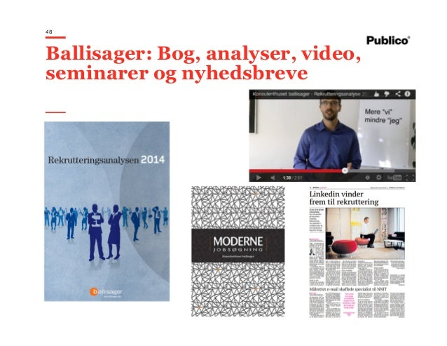48 Ballisager: Bog, analyser, video, seminarer og nyhedsbreve