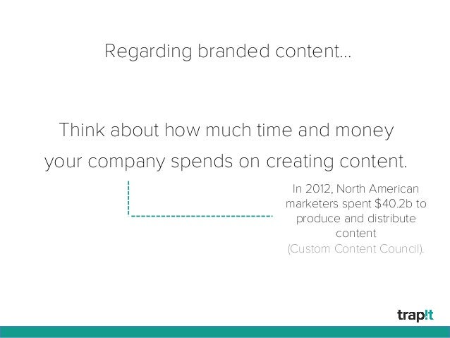 Think about how much time and money your company spends on creating content. In 2012, North American marketers spent $40.2...