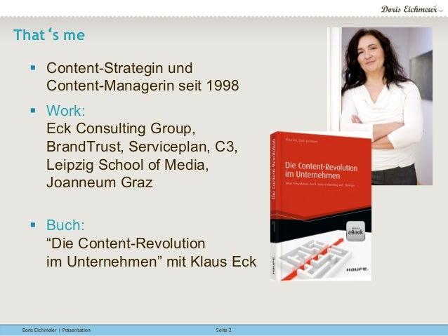 Wie wichtig ist eine Content-Strategie für Content-Marketing? Münchner Medientage 2015 Slide 2