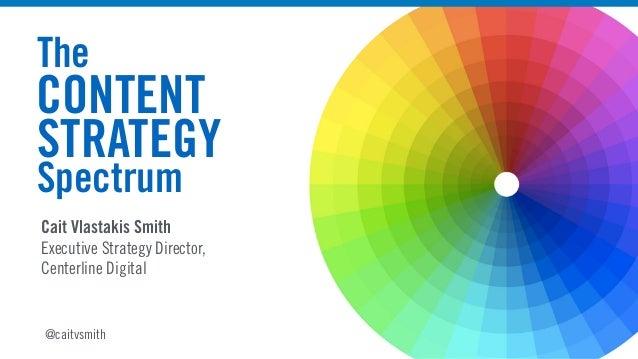 Cait Vlastakis Smith Executive Strategy Director, Centerline Digital The CONTENT STRATEGY Spectrum @caitvsmith