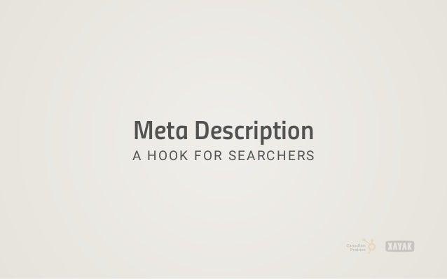 Meta Description A HOOK FOR SEARCHERS