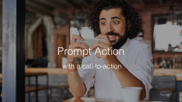 Prompt Action with a call-to-action