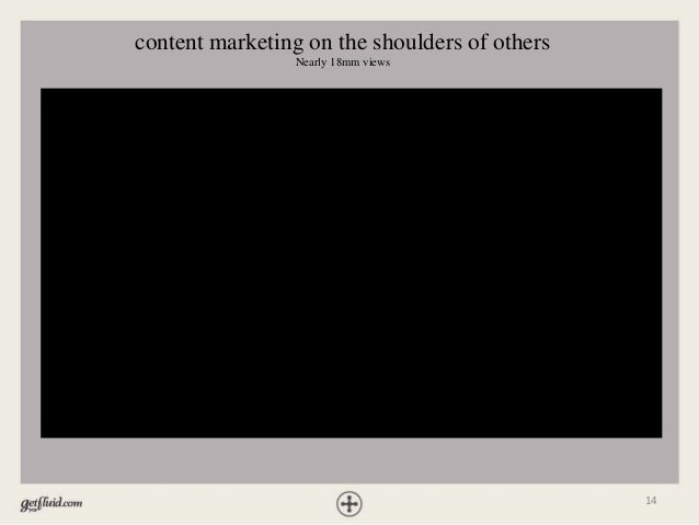 14 content marketing on the shoulders of others Nearly 18mm views