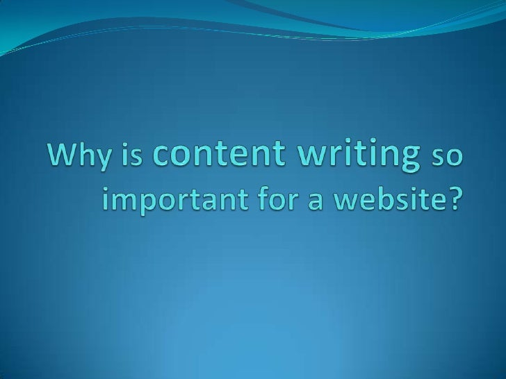Why is content writing so important for a website?<br />