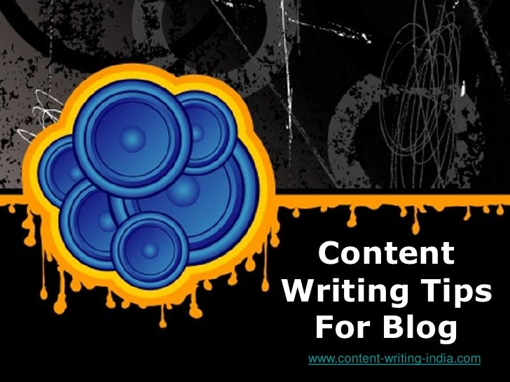 Content              Writing Tips               For BlogFree Powerpoint Templates                   www.content-writing-in...