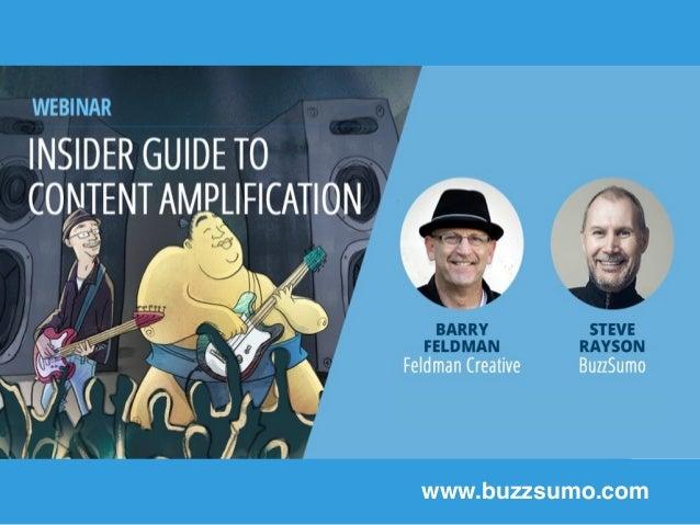 Using BuzzSumo's New Backlink Data www.buzzsumo.com